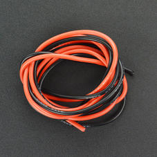 线材-耐高温硅胶高压线 8AWG 10平方毫米(红色1米 黑色1米...
