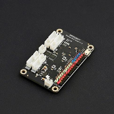 Romeo BLE Quad 蓝牙四驱机器人主控器 (Arduino 兼容)