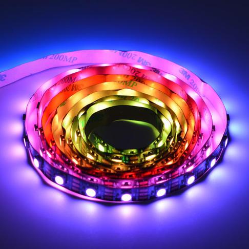 炫彩 WS2812 RGB LED可剪裁黑色灯带 120灯