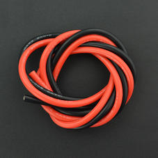線材-耐高溫硅膠高壓線 10AWG 6平方毫米(紅色1米 黑色1米...
