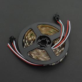 DFRobot显示模组-炫彩 WS2812 RGB LED可剪裁白色灯带  120灯