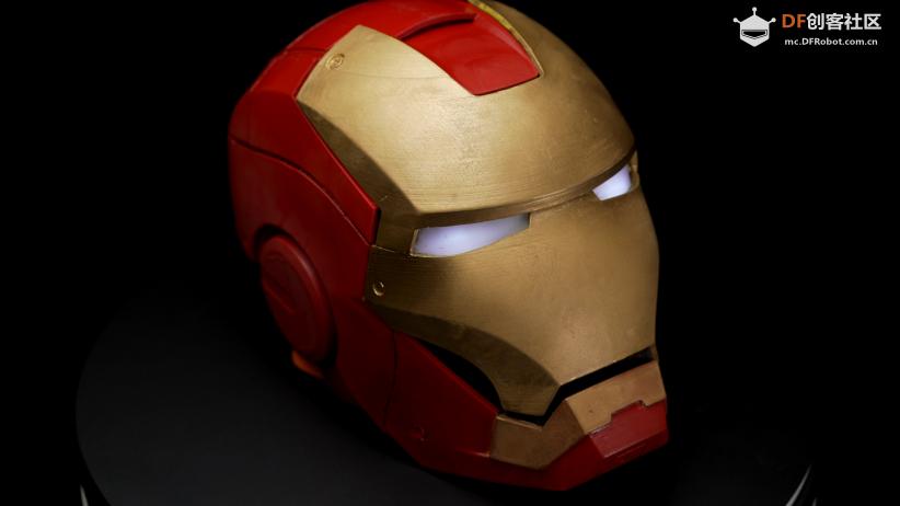 DFRobot创客社区热门项目可穿戴式语音对话钢铁侠头盔