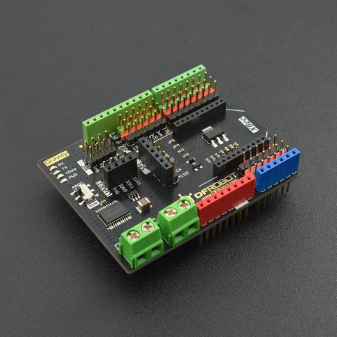 Gravity: IO传感器扩展板(带双路电机驱动)