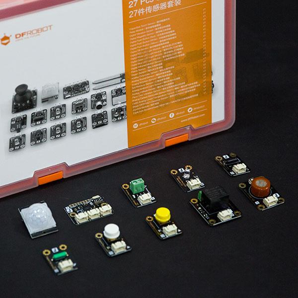 创客教育套件热卖推荐-Gravity:27件传感器套装