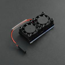 新品-树莓派双风扇散热套件(兼容树莓派3B/3B+/4B)