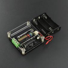 micro:bit-IO-BOX 電機驅動擴展板 含3節5號電池盒