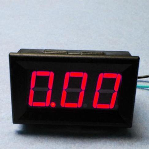 LED直流电流表 10A 红色