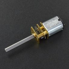 长轴金属减速电机 (6V 98RPM D轴 25mm)