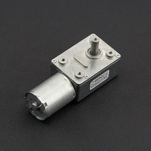 涡轮蜗杆直流减速电机 (12V 160RPM 2.2kg.cm)