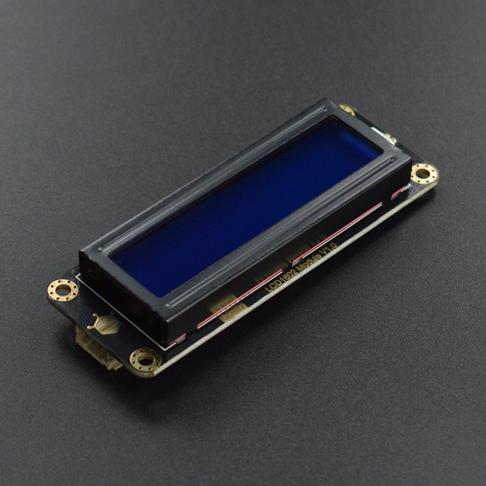 Gravity: I2C LCD1602 液晶显示屏 (蓝底)