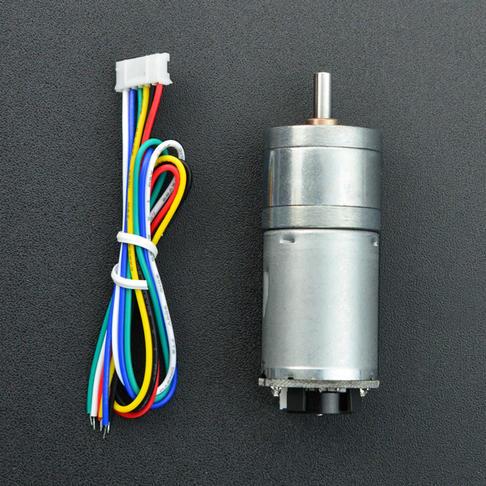 带编码器直流减速电机(12V 350rpm 12kg*cm)