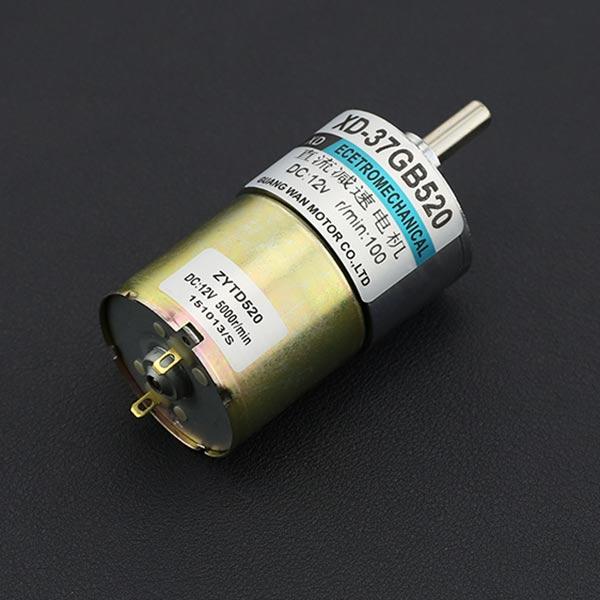金属直流减速电机(12V 100RPM 42kg.cm)