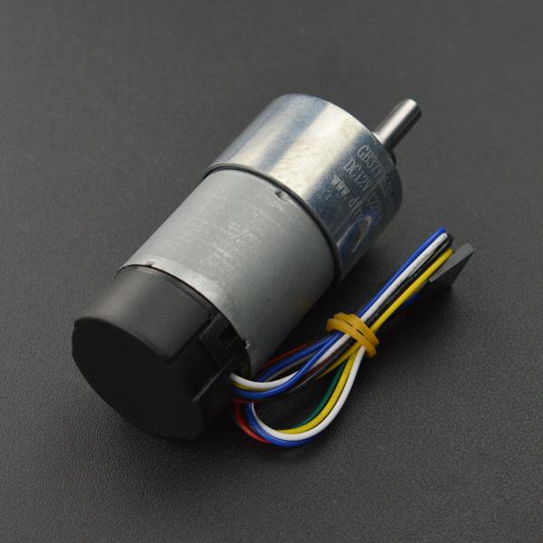 12V直流减速电机 122rpm 带编码器