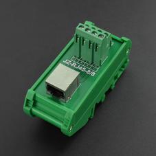 电子元件-DIN导轨RJ45接线端子适配器-卧式