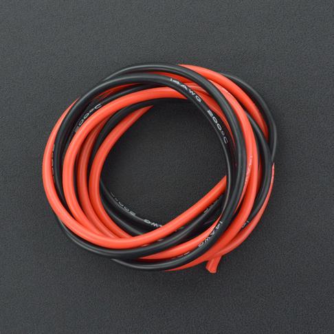 耐高温硅胶高压线 14AWG 2.5平方毫米(红色1米 黑色1米)