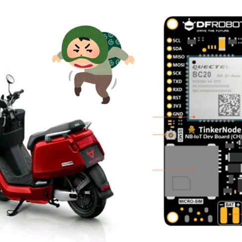 用Tinkernode做一个电瓶车追踪防盗装置