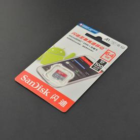 DFRobot创客商城新品推荐闪迪至尊高速移动microSD 64GB (TF) Class10 内存卡