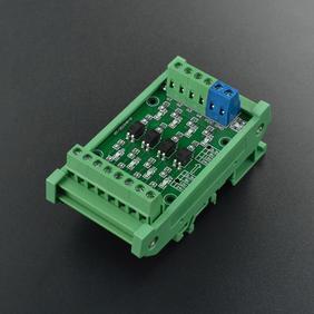 DFRobot新品推荐-4路电平转换模块 带隔离(12V转5V)