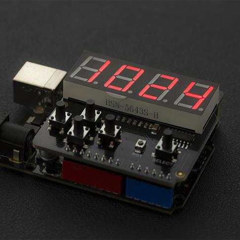 LED Keypad Shield 数码管扩展板