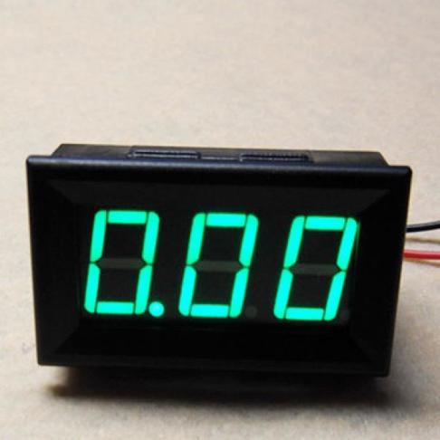 LED直流电流表 10A 绿色