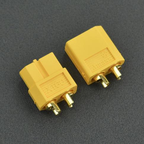 低阻值阻燃插头XT60 恒定30A瞬时60A