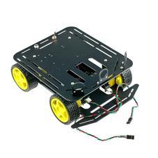 移动开发平台-带2路编码器A4WD四轮小车