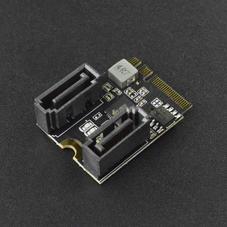 新品-M.2(A+E Key)轉SATA3.0擴展卡