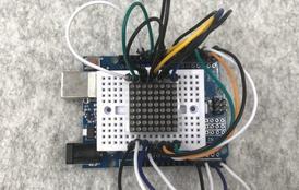 Arduino8x8点阵屏的驱动