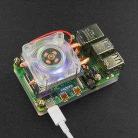 DFRobot创客商城新品推荐树莓派冰塔式炫光RGB散热风扇薄型