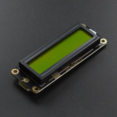 Gravity: I2C LCD1602 液晶显示屏 (绿底)