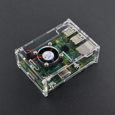 树莓派透明亚克力外壳 (带风扇和散热片 兼容树莓派B+/2B...