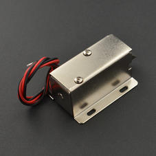 新品-12V斜口电磁锁(可长期通电带锁扣)