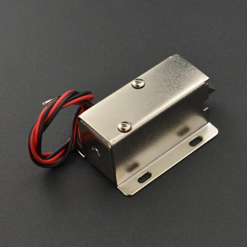 12V斜口电磁锁(可长期通电带锁扣)