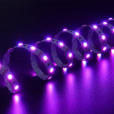 LED灯-5050 RGB 全彩灯带5m(带3M背胶-白)