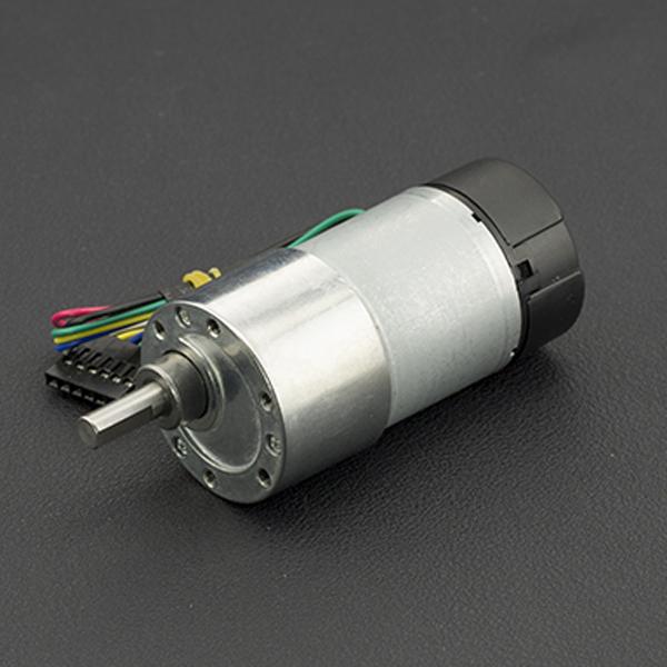 电机热卖推荐-12V直流减速电机 122rpm 带编码器