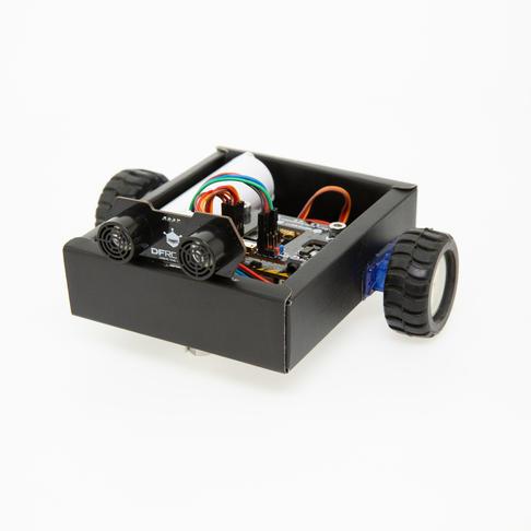 《爱上microbit》同款DIY纸盒小车
