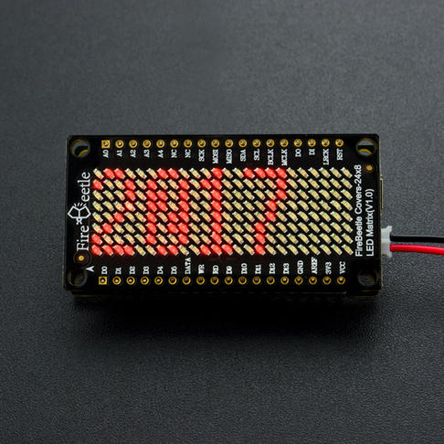 FireBeetle 24×8 LED点阵屏(红色)