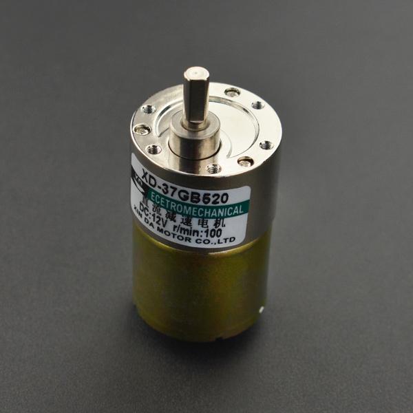 电机热卖推荐-金属直流减速电机(12V 100RPM 42kg.cm)