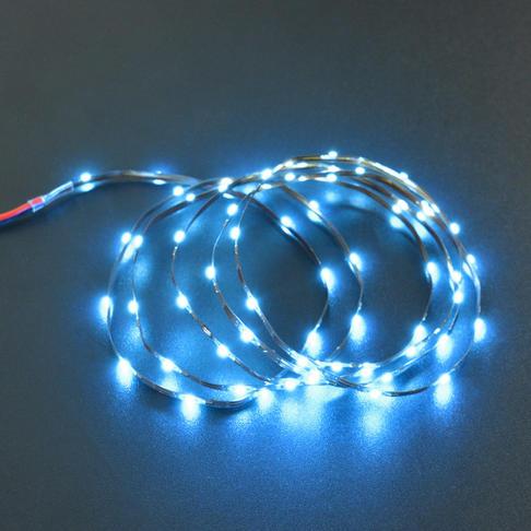 2.5mm柔性灯带(5V 60灯)冰蓝色