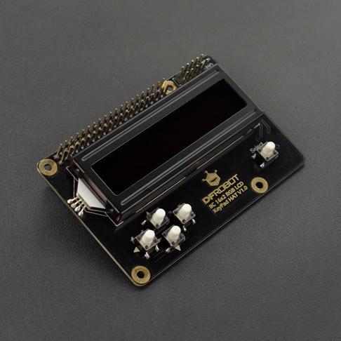 树莓派RGB LCD1602 按键扩展板 彩色字